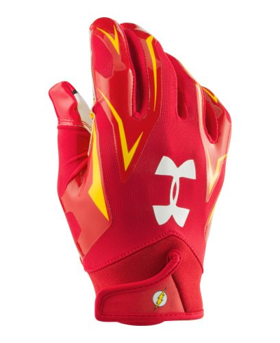 Under Armour Men's Alter Ego F4 Football Gloves Small Red