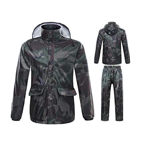 Jxjjd Xl Completo Mimetico Green colore Dimensioni Grigio Piumino Impermeabile Riutilizzabile Camouflage qpaFxw64q