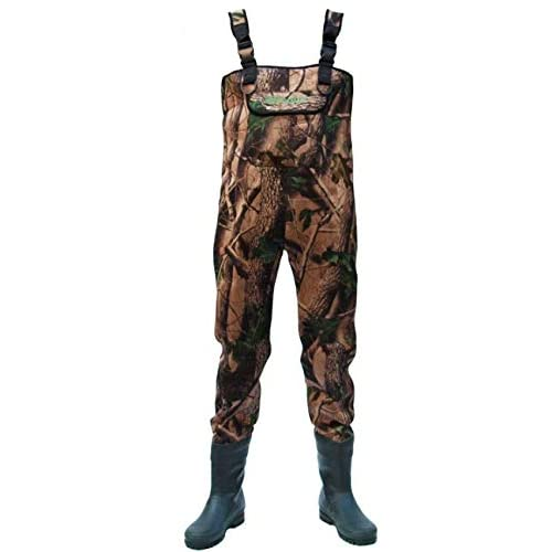 Image of Allcock Unisex's NDCX-07 Neoprene Chest Wader, Camouflage, 7 UK Sport