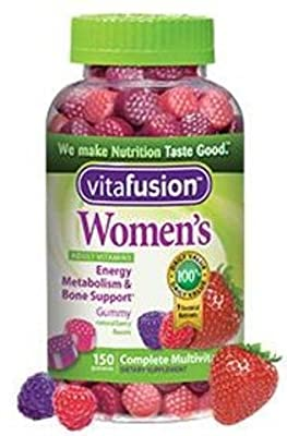 Vitafusion Women's Gummy Vitamins, Natural Berry Flavors, Value Pack of 660 Count