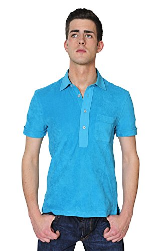 Tom Ford Polo Poloshirt Herren Türkis Regular Fit Baumwolle Casual 48