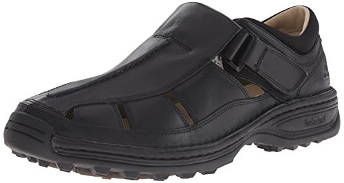 Timberland Men's Altamont Fisherman Sandal,Black,13 M