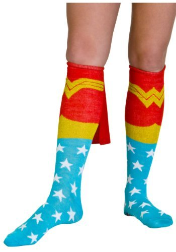 Bioworld Wonder Woman Knee High Cape Sock