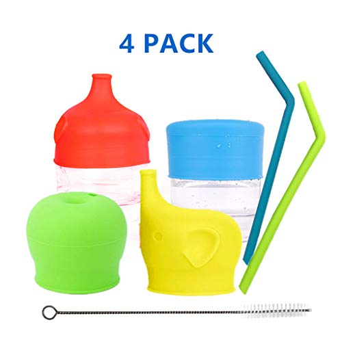 Sippy Cup Lids Spill Leak Proof Cup Lids for Babies Toddlers Kids Soft/Silicone Cup Lids Elephant Nose Shape Fit 5-9cm Diameter Cup Bottle FDA Safe BPA Free