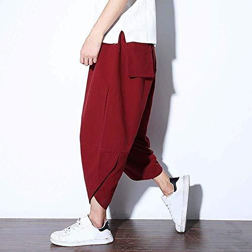 Style Bloomers Crystallly Pour Sarouels Hommes Pantalons Décontractés Jambes Garçons Orange Aladdin Larges En Unie Simple Vrac Lin À Couleur ASAprq8