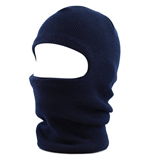 THE HAT DEPOT Made in USA Unisex Ski Mask Winter Hat (Navy)