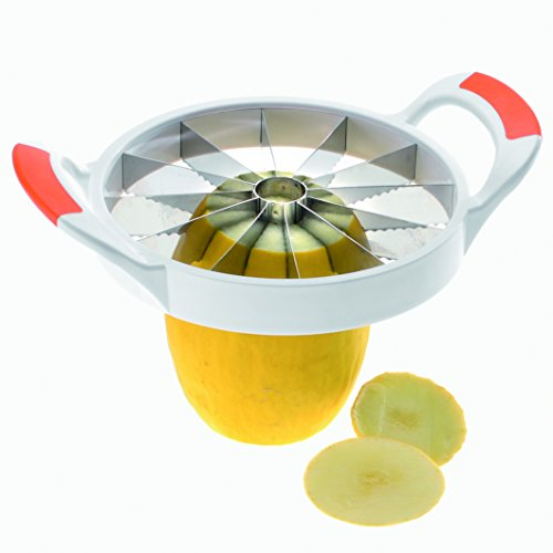 Westmark Germany Large Stainless Steel Slicer with Blade Protection, Slices Fruit, Melons, Watermelon, Pineapple, and More Simply Get 12 Perfect (Stainless Steel Pineapple Slicer)
