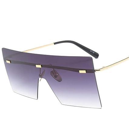 Gafas de Adulto Lentes Siameses Gafas de Sol Unisex Retro ...