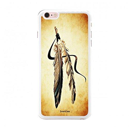 Coque + Verre Trempé pour iPhone 6 Plus / 6S Plus SmartCase® GOLD INDIAN FEATHERS
