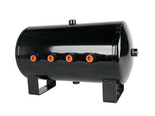 (HornBlasters 5 Gallon 8 Port Black Steel Air Tank)