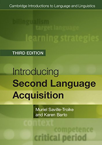 BOOK Introducing Second Language Acquisition (Cambridge Introductions to Language and Linguistics) TXT