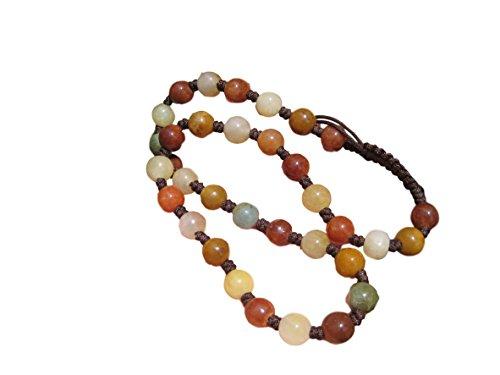 Natural Honey Agate Green Jade bead necklace stone carving jewelry art (Honey Jade Beads)