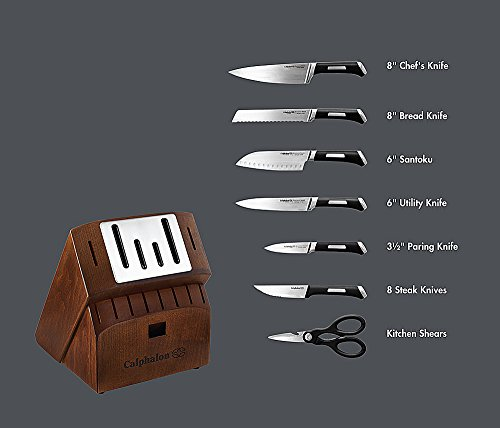 Calphalon Precision Self-sharpening 15-piece Knife Block Set, with SharpIn Technology (1932941) by Calphalon (Image #9)