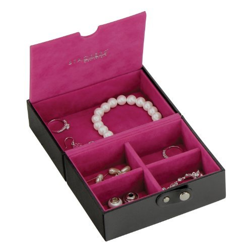 | 33% OFF | Stackers | Jewelry Box | black & fuchsia pink travel box stacker accessory by Stackers by LC Designs (Image #3)