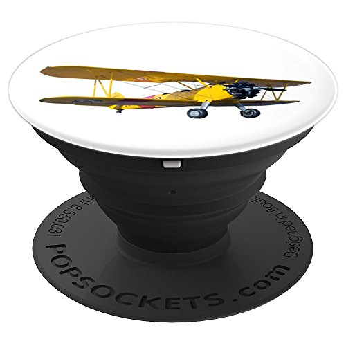 Aerobatic Biplane - Biplane Aerobatics Airshow - PopSockets Grip and Stand for Phones and Tablets