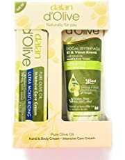 Duo Set Hand and Body Cream plus Intensive Care Cream Pure Olive Oil Nourishing Moisturizing Men and Women