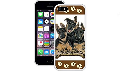 Deutscher Schäferhund | Handgefertigt | iPhone 5 5s SE | Weiß TPU Hülle