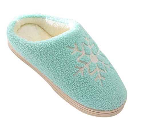 Cattior Womens Comfy Warm Ladies Slippers Indoor Fluffy Slippers Green 1bC4ve0jYE