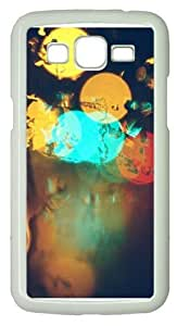 Glare Surface Circles Colorful PC Case Cover for Samsung Grand 2 and Samsung Grand 7106 White