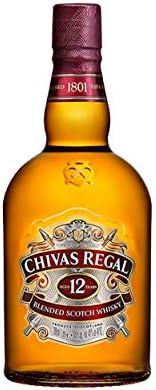 Chivas Regal Juego de 2 vasos de whisky escocés de 12 años, whisky, chupito, licor, alcohol, botella, 40 %, 2 x 1 l