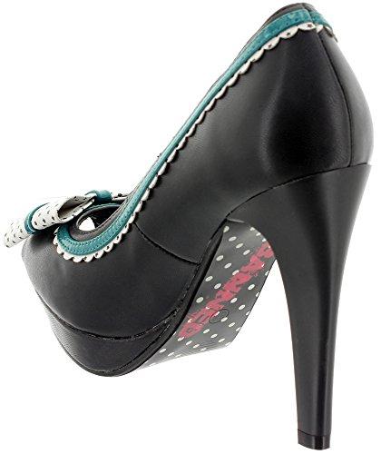 Banned - Zapatos de vestir de Material Sintético para mujer Negro - negro