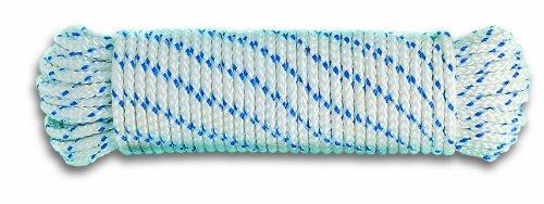 Chapuis DR8 Plaited halyard - Polypropylene - 360 kg - Diameter 6 mm - Length 10 m - White/blue