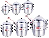 Zebra Steamer Set Stainless Steel Premium High Quality (28 CM)