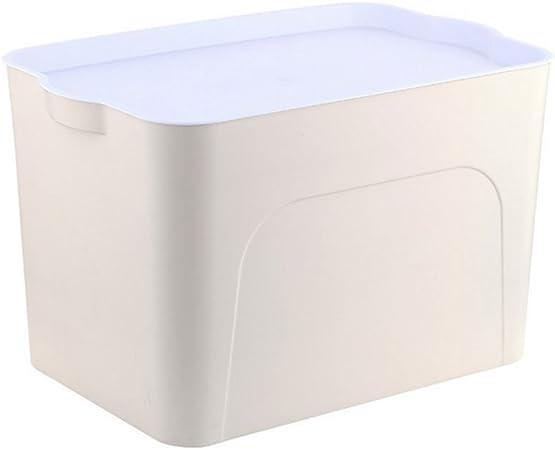 Plástico se pueden apilar caja de almacenamiento de la ropa ropa interior caja de almacenaje armario con una tapa acabado Box: Amazon.es: Hogar