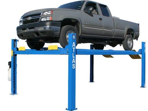 Atlas 412 14,000 Lbs. Capacity Commercial Grade 4 Post Lift - Four Post Vehicle Lift
