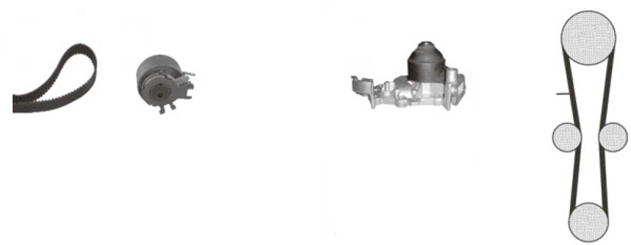 BEHR HELLA SERVICE 8MP 376 802-851 *** PREMIUM LINE *** Bomba de agua + kit correa distribución: Amazon.es: Coche y moto
