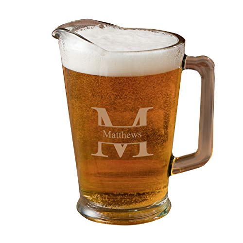 Personalized Glass Pitcher - Stamped