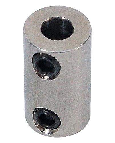 3/16 inch to 5mm Stainless Steel Set Screw Shaft Coupler ServoCity 625176