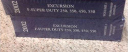 2002 FORD TRUCK Excursion F-250 350 450 550 Service Shop Repair Manual Set ()