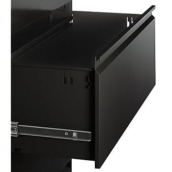 Alera ALELF4254BL Four-Drawer Lateral File Cabinet, 42w x 19-1/4d x 53-1/4h, Black