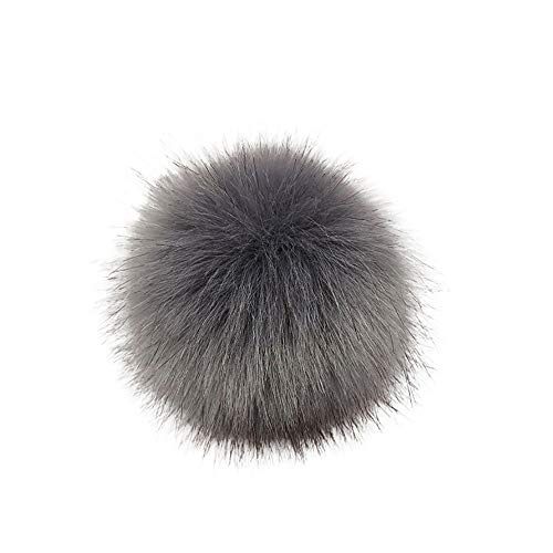 DIY Faux Fox Fur Fluffy Pompom Ball for Hats Beanies Shoes Scarves Bag Charms Accessories (L) from Kinrui
