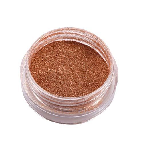 (Flow Gold Mirror Powder Chrome Effect Nail Polish Foil Nails Art Glitter)