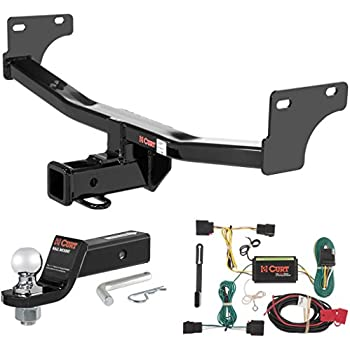 curt class 3 trailer hitch tow package with 2. Black Bedroom Furniture Sets. Home Design Ideas