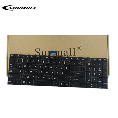 SUNMALL Keyboard Replacement Compatible with Toshiba Satellite C50-A C55-A C55D-A C55T-A C55DT-A C55DT-A Series Laptop,fits Part Number V143026CS1 132412258 (Do not Fit C50-B, C50D-B,C55-B, C55D-B) (Toshiba Laptop Keyboard Some Keys Not Working)