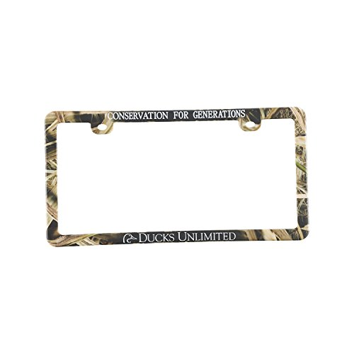 Ducks Unlimited License Frame, Universal, Mossy Oak Shadow Grass Blades Camo
