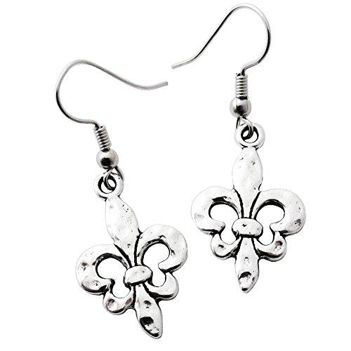 Fleur De Lis Dangle Earrings