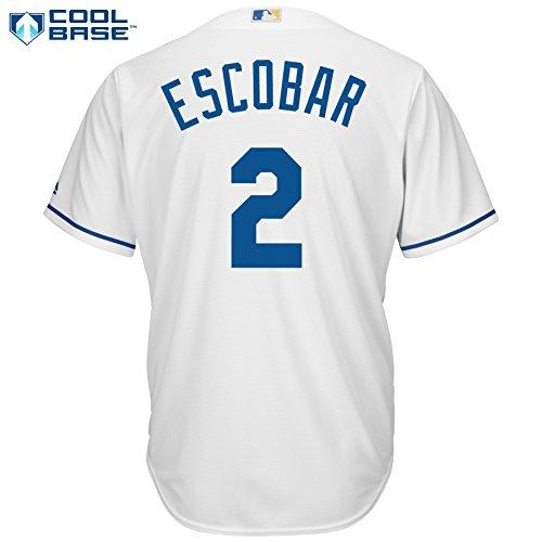 Alcides Escobar Kansas City Royals #2 MLB Men's Cool Base Home Jersey (XXlarge)