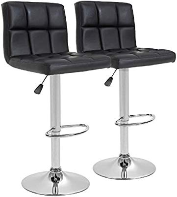 BestOffice Counter Height Bar Stools Set of 2 PU Leather Swivel BarStools  for Kitchen Stool Height Adjustable Counter Stool Barstools Dining Chair ...