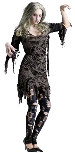 Fun World Women's Living Dead Costume, Multicolored, 10-14 (Living Dead Zombie Costume)