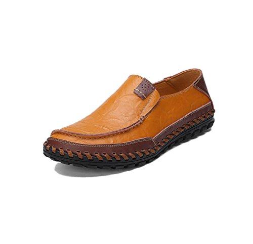zmlsc Hommes Occasionnels Chaussures Business Ruban Souple Rond Pointu Printemps Automne Et