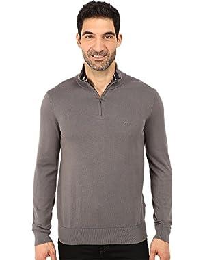 Men's Long Sleeve Solid 1/4 Zip Sweater