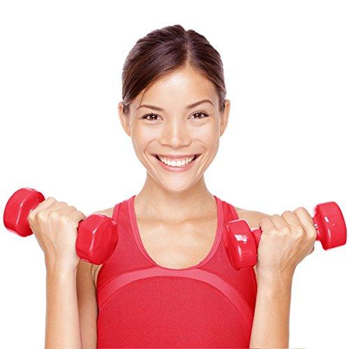 Sport Xpert metti de forma i tuoi bíceps, tríceps, hombros, espalda, etc., con el juego de mancuernas (6 pesas con soporte). ES tamaño de dos mancuernas ...