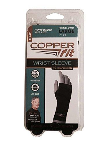 Copper Fit Compression Wrist Sleeve for Men & Women (Large)