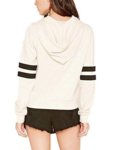 Colores mezclados moda-sudaderas con capucha de las mujeres White M