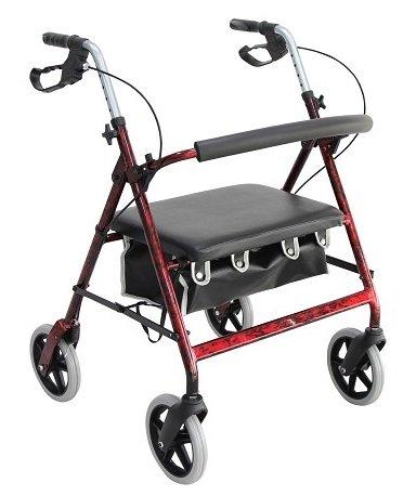 Merits Health Products Bariatric 4 Wheel Rollator - W467REA - 1 Each / Each