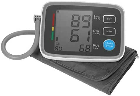 Life HS Automatic Upper Arm Style Sphygmomanometer Blood Pressure Monitor Electronic, Digital BP Machine Pulse Rate Monitoring Meter Heartbeat Detector 180 Memory Capacity
